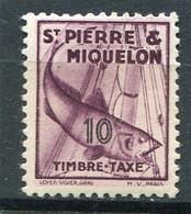 SAINT-PIERRE ET MIQUELON  N°  33 *  TAXE  (Y&T)   (Charnière) - Timbres-taxe