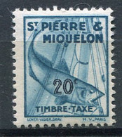 SAINT-PIERRE ET MIQUELON  N°  35 *  TAXE  (Y&T)   (Charnière) - Timbres-taxe