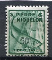 SAINT-PIERRE ET MIQUELON  N°  37 *  TAXE  (Y&T)   (Charnière) - Timbres-taxe