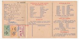 FRANCE - Carte Fédérale Permis De Pêche VAR 1963 - Fiscaux Taxe Piscicole Ordinaire + Supplément Lancer + Cotisation... - Revenue Stamps
