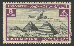 Egypt, 8 M. 1933, Sc # C13, Used. - Aéreo