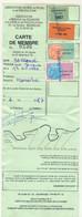 FRANCE - Carte De Pêche BESANÇON (Doubs) - 1987 - Taxe Piscicole + Suppléments + Locales - Revenue Stamps