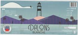 La Réunion 75cl ** DALONS Brasserie ** étiquette 184X80mm, Label Biere Birra Cerveza Piwo Pilsen - Bier