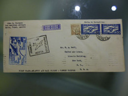 PRIMEIRO VOO TRANSATLANTICO HORTA TO U.S.A - Briefe U. Dokumente