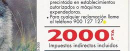 B-047/1 TARJETA DEL LOBO  FAUNA IBERICA CON PUNTO AMARILLO (WOLF) - Emisiones Básicas