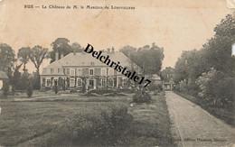 CPA 80 0020 RUE (Somme) - Le Château De M. Le Marquis De LONGVILLERS - Tampon École Militaire D'Aviation Du Crotoy Au Do - Rue