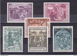 MONACO 1973 NOËL Yvert 934-938 + PA 96 NEUF** MNH - Unused Stamps