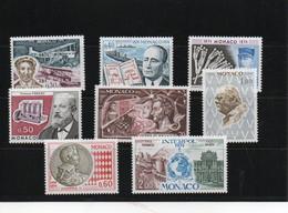 MONACO 1974 ANNIVERSAIRES Yvert 959-962 + 964-966 + 980 NEUF** MNH Cote : 6,90 Euros - Nuevos