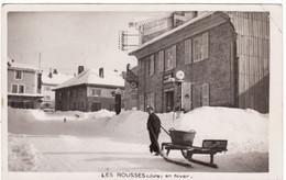 39 LES ROUSSES CARTE PHOTO **Jura En Hiver, Traineau Hôtel De France** - Ohne Zuordnung