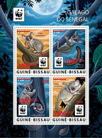 GUINEA BISSAU 2020 - WWF Galago Red Overprint, M/S. Official Issue [GB200514d] - Nuevos