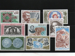 MONACO 1976 Yvert 1052-1055 + 1067-1071 NEUF** MNH Cote : 10,05 Euros - Nuevos
