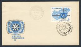 Hungary Ungarn 1967 FDC - Mi 2321 A YT 1888 SG 2273 - Int. Tourist Year - Emblem + Transport / Tourismus, Verkehrsmittel - Cartas