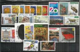 AND.FR. Año Completo 2010, 23 Sellos Usados, 1ª Calidad: Coche Ferrari, Emisión Conjunta And-Fr-Esp, Radio Andorra, Etc. - Used Stamps