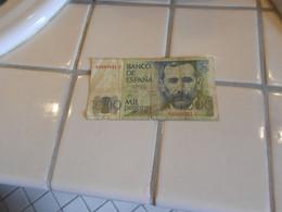 SPAIN  1979   -     1000  PESETAS   BILLET - [ 4] 1975-… : Juan Carlos I