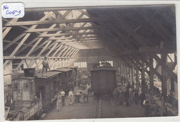 FERROVIAIRE : Très Rare Carte Photo D'un Atelier De Reparation De Wagons - A Identifier. - Unclassified