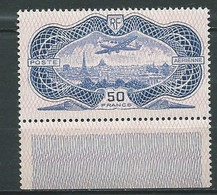 Poste Avion N° 15 **  50 Francs  Burelé Bord De Feuille Fraicheur Postale    - Ai 31301 - 1927-1959 Mint/hinged
