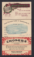 3 Verschiedene Ganzsachen Mit Bebildeter Werbung - Alle Gebraucht - Cartas