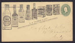 """1898 - 2 C. Ganzsache Mit Abbildung """"Flasche Mit Vanille-Extrakt"""" - Ab New York - Orquideas"""