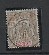 Océanie N° 20 50 Centimes Oblitération Centrale Oct 1903 Superbe Plus Rare Que Neuf - Gebraucht