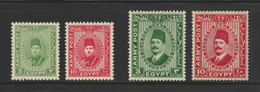 Egypt - 1936-39 - ( Military - King Fouad & King Farouk ) - MH* - Oblitérés