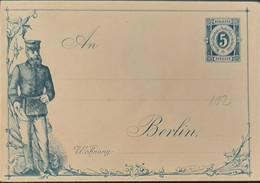 Germany Stadtpost/Privatpost Ganzsachen Berlin Envelope For Greetings Card 1888 5pfg VG+ - Sello Particular