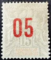 Madagascar 1912 Surchargé Overprinted 05 Yvert 111 (*) MNG - Unused Stamps