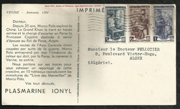 CARTE PUBLICITAIRE . PLASMARINE IONYL . 1953 . - Unclassified
