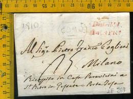Piego Con Testo Como Per Milano - 1. ...-1850 Prephilately