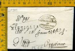 Piego Con Testo Missaglia Per Oggiono Lecco - 1. ...-1850 Prephilately