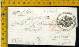 Piego Con Testo Montagnana Per Padova - 1. ...-1850 Prephilately