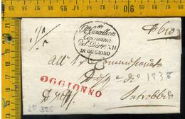 Piego Con Testo Oggiono Per Introbio Lecco - 1. ...-1850 Prephilately