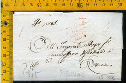 Piego Con Testo Saronno Varese Per Mariano Como - 1. ...-1850 Vorphilatelie