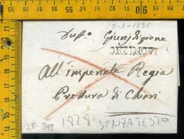 Piego Senza Testo Orzinuovi Per Chiari Brescia - 1. ...-1850 Vorphilatelie
