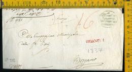 Piego Con Testo Orzinuovi Brescia Per Bergamo - 1. ...-1850 Prephilately