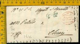 Piego Con Testo Orzinuovi Brescia Per Chiari - 1. ...-1850 Vorphilatelie