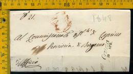 Piego Con Testo Orzinuovi Brescia Per Caprino Bergamo - 1. ...-1850 Prephilately