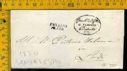 Piego Senza Testo Pandino Per Lodi - 1. ...-1850 Vorphilatelie
