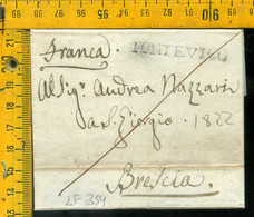 Piego Con Testo Pontevico Per Brescia - 1. ...-1850 Vorphilatelie