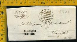 Piego Con Testo Romano Di Lombardia Bergamo Per Treviglio - 1. ...-1850 Vorphilatelie