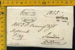 Piego Con Testo Sondrio Per Bellano Lecco - 1. ...-1850 Vorphilatelie