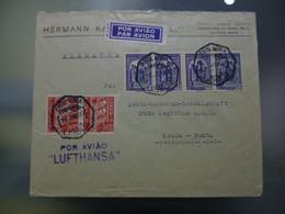 CORREIO AÉREO - LUFTHANSA - LIABOA A ALEMANHA - Briefe U. Dokumente