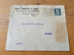 K16 France 1929 Lettre De Paris Pour Solothurn Suisse - Storia Postale
