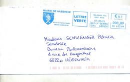 Lettre Flamme Ema Mulhouse Mairie Habsheim Aigle - EMA ( Maquina De Huellas A Franquear)