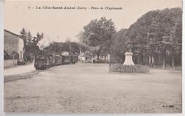 CPA La Cote Saint André (38) Le Tramway Arrivant Sur La Place Avec Statue D'Hector Berlioz  BF 8 - La Côte-Saint-André