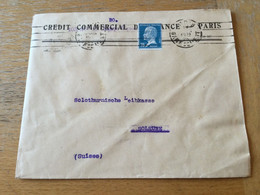 K16 France 1925 Lettre De Paris Pour Solothurn Suisse - Storia Postale