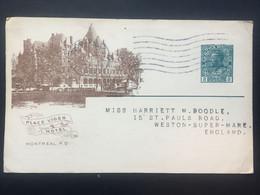 CANADA George V Postcard `Place Viger Hotel` Illustration - Canadian Pacific Railway Company - 2 Scans - Briefe U. Dokumente