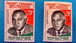 MADAGASCAR 1960 2 Neuf MNH YT 355 / 356 President  Tsirana - Madagaskar (1960-...)