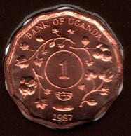 UGANDA 1 SHILLING 1987 KM# 27 - Uganda