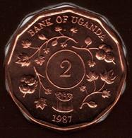 UGANDA 2 SHILLINGS 1987 KM# 28 - Uganda