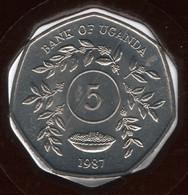 UGANDA 5 SHILLINGS 1987 KM# 29 - Uganda